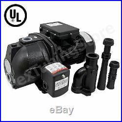 1 HP Convertible Shallow or Deep Well Jet Pump with Pressure Switch, Dual Voltage