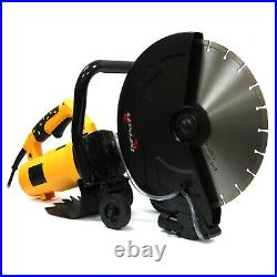 14 Portable Concrete Saw 3200W Corded Electric 4100 RPM with Water Pump & Blade