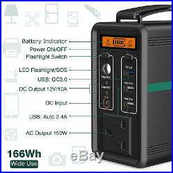 166Wh Portable Generator Solar Power Station Energy Storage Battery Charger UK