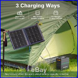 166Wh Portable Power Generator Power Station Supply Solar Panel Energy Charger