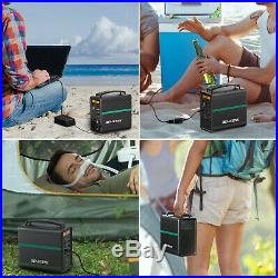 166Wh Solar Power Generator Station Supply Source Energy Storage Battery Charger