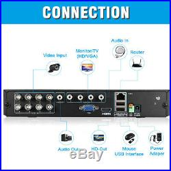 1TB HDD CCTV 8CH 1080N DVR Recorder 3000TVL Home Outdoor Security Camera System