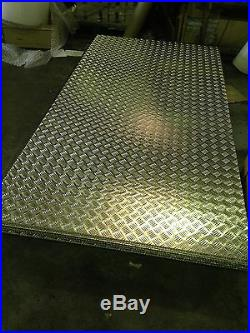 Aluminium Tread plate / Chequer plate 8 x 4 ft 2500 x 1250 Sheets Delivered