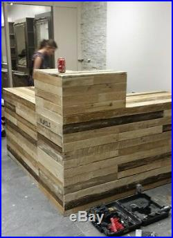 Bespoke Counter Bar Reclaimed Rustic Industrial Office Cafe Restaurant Fitted