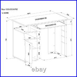 Computer Desk with Cupboard Shelves Storage for Home Office Piranha Elver PC 1