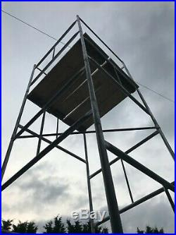 DIY Scaffold Tower 4ft x 4ft x 6.3Mtr working height including boards