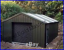 DOUBLE GARAGE/WORKSHOP BY STEEL BUILD MASTERS (6m W x 6m L x 2.4m eve height)