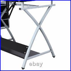 Drafting Table Art and Craft Drawing Desk Art Hobby Folding Adjustable with Stool