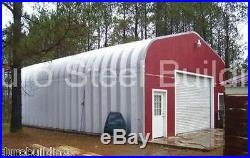 DuroSPAN Steel 25x34x13 Metal Gabled Roof Building Kit Open Ends Factory DiRECT