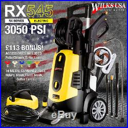 Electric Pressure Washer 3050 PSI / 210 BAR Power Patio Jet Cleaner WILKS-USA