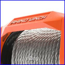 Electric Recovery Winch 12v 13500lb Heavy Duty Steel Cable, 4x4 Car RHINO