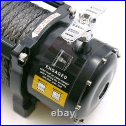 Electric Winch 12v 4x4 13500lb Blackline Rope Recovery Off Road Wireless