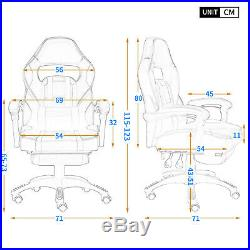Executive Home Office Chair Gaming Race Computer Desk Reclining with Footrest
