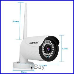 Floureon 4CH 1080P DVR CCTV Wifi 720P IP Camera Outdoor Security System WithHDD