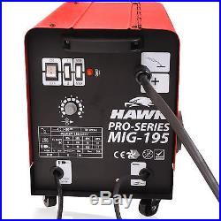 Hawk 195 Gas & No Gasless Flux Solid Wire Feed Mig Weld