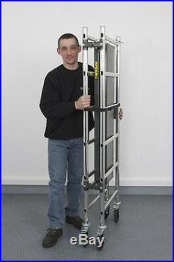 Indoor Mini Folding Scaffold Tower 2 Platforms Compact Light weight