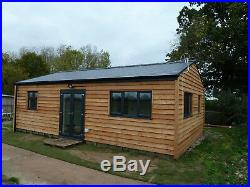 LOG CABIN. 2 BEDS, SELF CONTAINED. 9M x 6M. £925M2. PART 1 OF 2