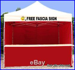 Mobile Catering Trailer Gazebo Heavy Duty Printed Hot Food Fast Food