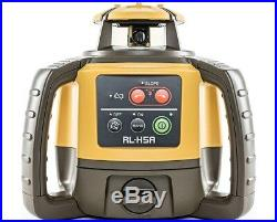 Topcon RL-H5A Self Leveling Rotary Laser Level LD-8 receiver 14 Foot Rod Tripod